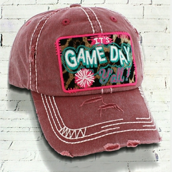 2 for  20~ It s Game Day Ya ll  Distressed Cap 97b56d08c2d6